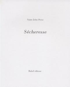 Saint-John Perse : Sécheresse